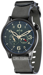 AVI-8 Flyboy Zielony/Skóra Ø42 mm AV-4048-03