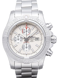 Breitling Super Avenger II Chronograph Kremowy/Stal Ø48 mm A1337111.G779.168A
