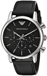 Emporio Armani Dress Czarny/Skóra Ø41 mm AR1733