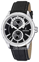 Festina Dress Czarny/Skóra Ø46 mm F16573-3