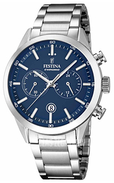 Festina Dress Niebieski/Stal Ø44 mm F16826-2