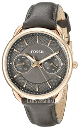 Fossil Dress Szary/Skóra Ø34 mm ES3913