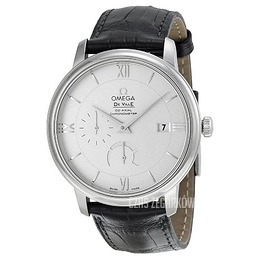 Omega De Ville Prestige Co-Axial Power Reserve 39.5mm Srebrny/Skóra Ø39.5 mm 424.13.40.21.02.001