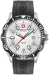 Swiss Military Sport Srebrny/Guma Ø44 mm 06-4306.04.001