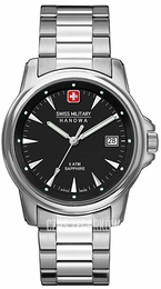 Swiss Military Dress Czarny/Stal Ø39 mm 06-5230.04.007