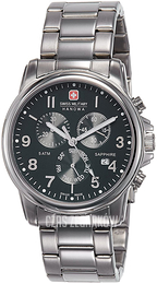 Swiss Military Sport Czarny/Stal Ø39 mm 06-5233.04.007