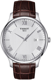 Tissot Tradition Gent Srebrny/Skóra Ø42 mm T063.610.16.038.00