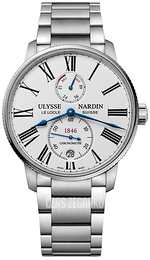 Ulysse Nardin Marine Collection Biały/Stal Ø42 mm 1183-310-7M-40