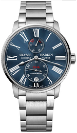 Ulysse Nardin Marine Collection Niebieski/Stal Ø42 mm 1183-310-7M-43