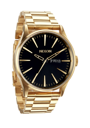 złoty męski zegarek nixon