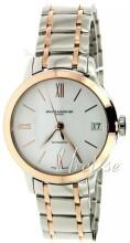 Baume & Mercier Classima Biały/Stal w kolorze różowego złota Ø31.5 mm