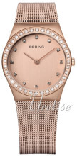 Bering Classic Różowe złoto/Stal w kolorze różowego złota Ø30 mm