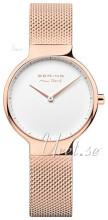 Bering Max Rene Biały/Stal w kolorze różowego złota Ø31 mm