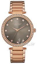 Bulova Crystal Szary/Stal w kolorze różowego złota Ø38 mm