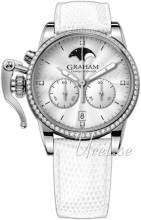 Graham Chronofighter Biały/Skóra Ø36 mm