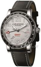 Graham Silverstone Time Zone Srebrny/Skóra Ø42 mm