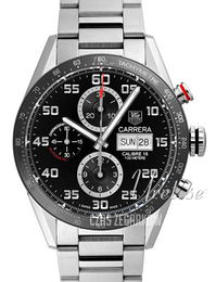 TAG Heuer Carrera Calibre 16 Day Date Automatic Chronograph Czarny/Stal Ø43 mm CV2A1R.BA0799