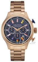 Nautica Chronograph Niebieski/Stal w kolorze różowego złota Ø45 mm
