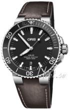 Oris Diving Czarny/Skóra Ø43.5 mm