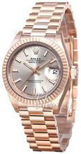 Rolex Lady-Datejust 28 Srebrny/18 karatowe różowe złoto Ø28 mm