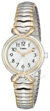 Timex Classic Elevated Biały/Stal w odcieniu złota Ø20 mm